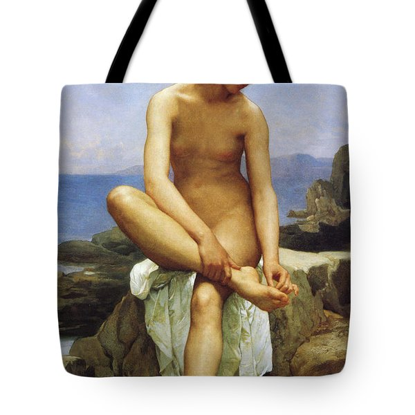 Seated Bather Tote Bag by William Bouguereau