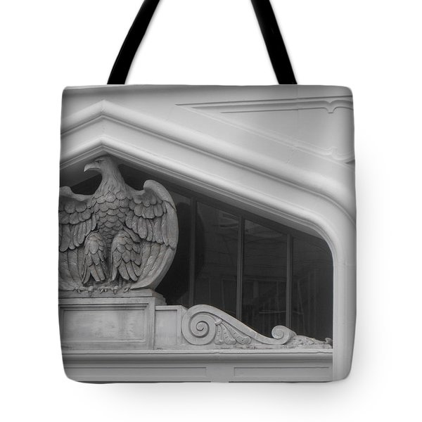 Seated Eagle Tote Bag by Adria Trail