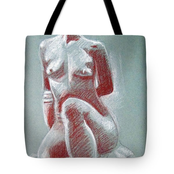 Seated Female Model Tote Bag