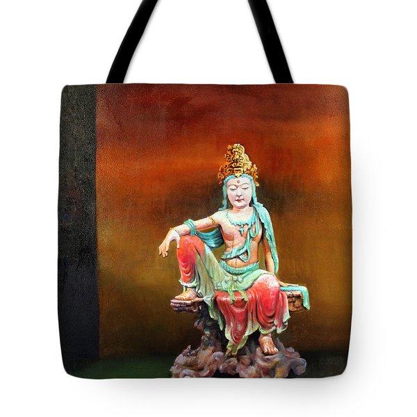 Seated Kuan Yin Tote Bag
