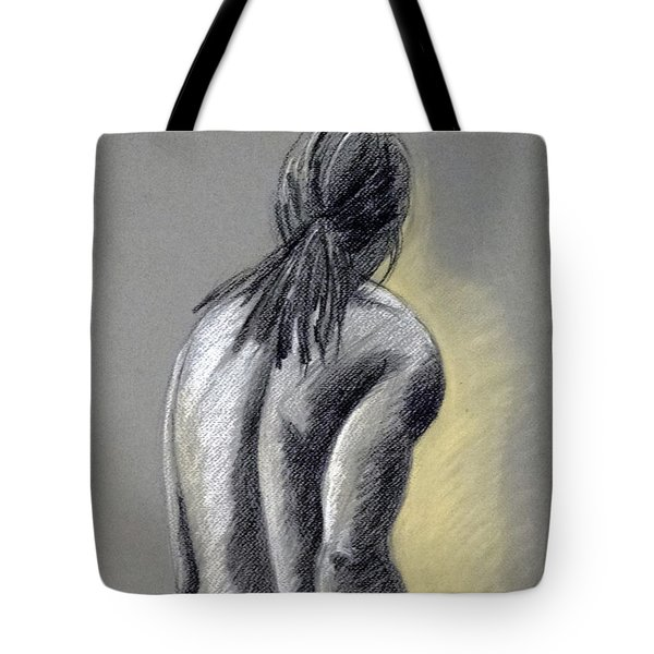 Seated Male Tote Bag