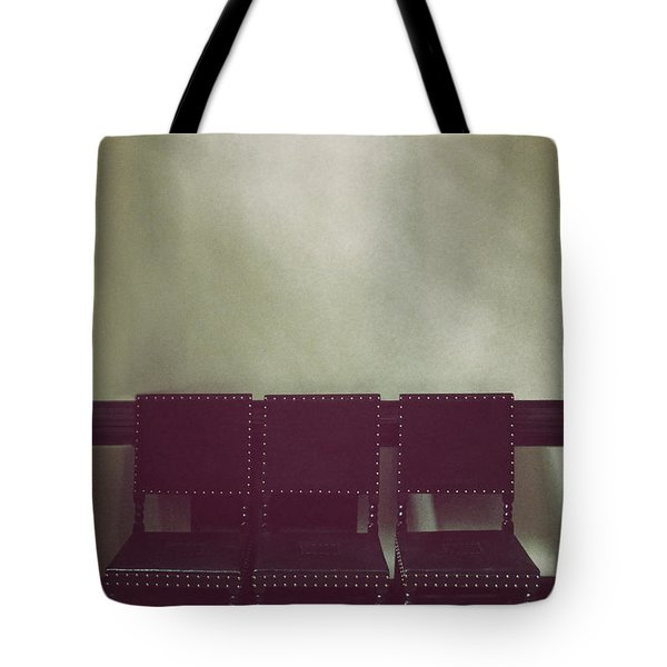 Seating For Three Tote Bag by Margie Hurwich