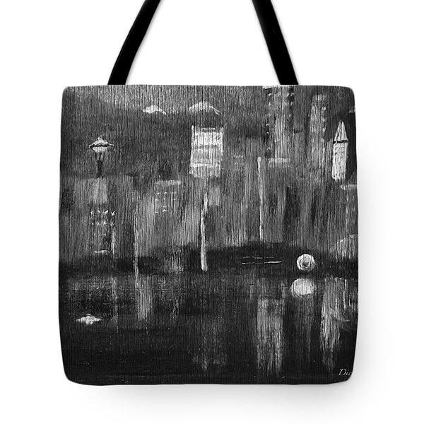 Seattle Black And White Tote Bag