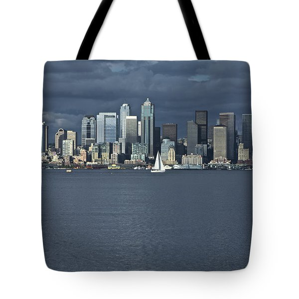 Seattle Cityscape From Alki Beach Tote Bag