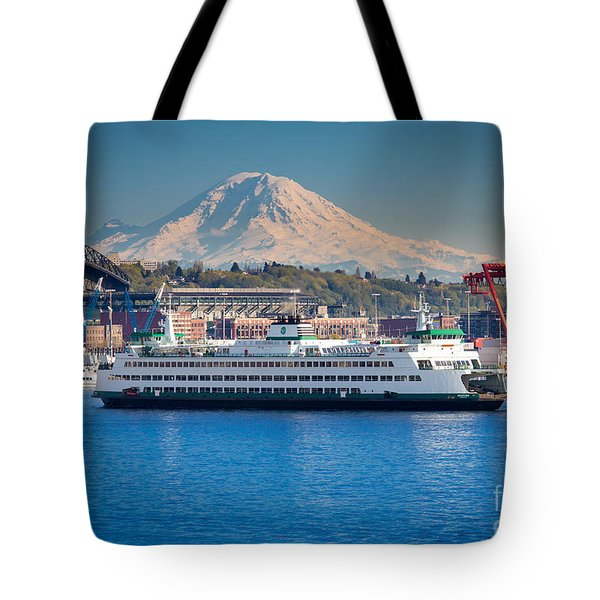 Seattle Harbor Tote Bag by Inge Johnsson
