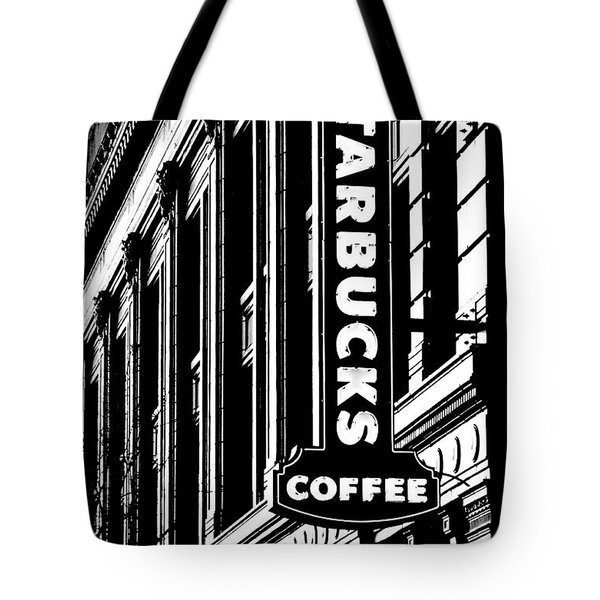 Seattle Icon Black And White Tote Bag