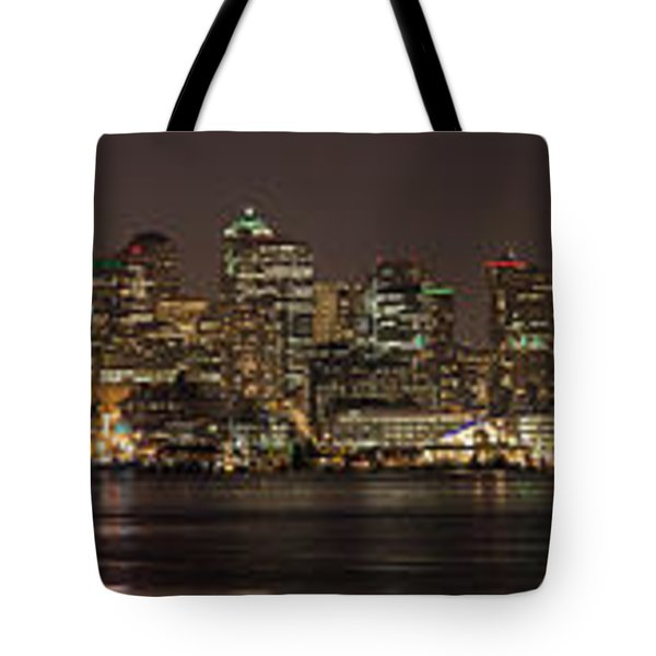 Seattle Lake Union Winter Reflection Tote Bag by Mike Reid