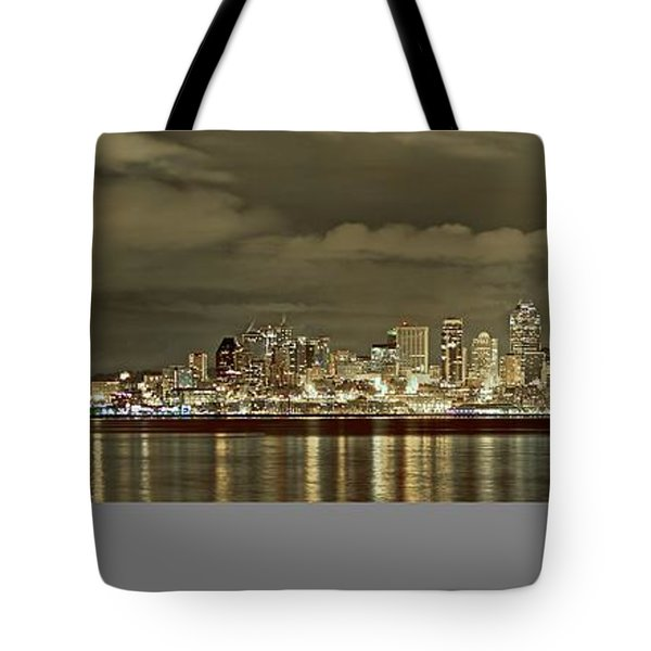 Seattle Lights At Night From Alki Tote Bag