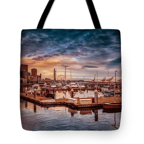 Seattle Marinescape. Tote Bag by Eti Reid