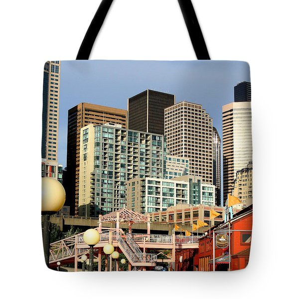 Seattle Skyline. Tote Bag by Art Block Collections