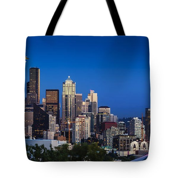 Seattle Skyline Panoramic Tote Bag