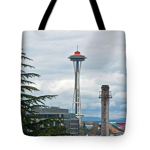 Seattle Spaceneedle Golden Anniversary Art Prints Tote Bag