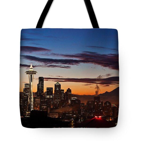 Seattle Sunrise Tote Bag