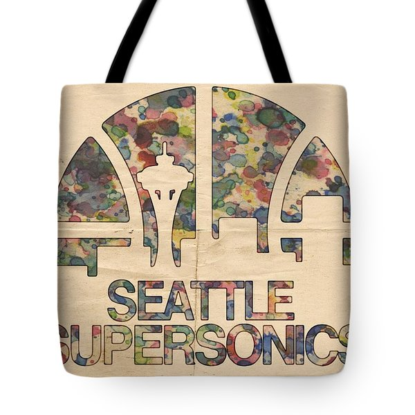 Seattle Supersonics Poster Vintage Tote Bag by Florian Rodarte