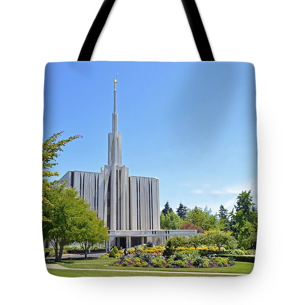 Seattle Temple - Horizontal Tote Bag