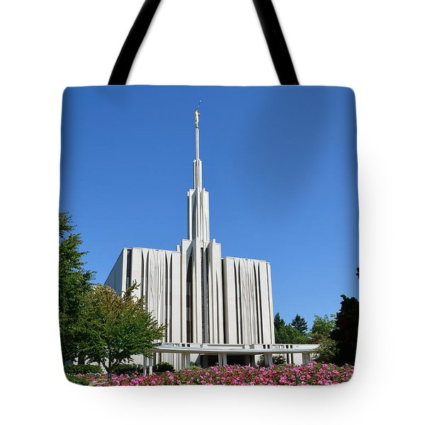 Seattle Temple Tote Bag