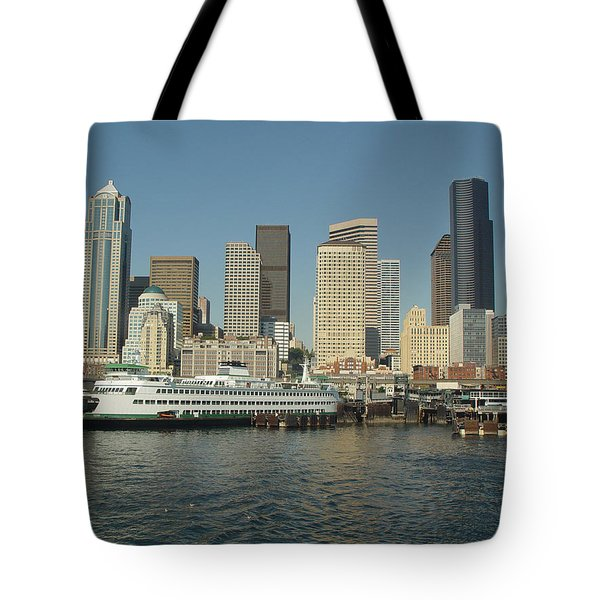 Seattle Waterfront Tote Bag by John Bushnell