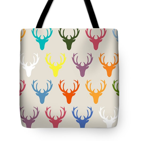 Seaview Simple Deer Heads Tote Bag