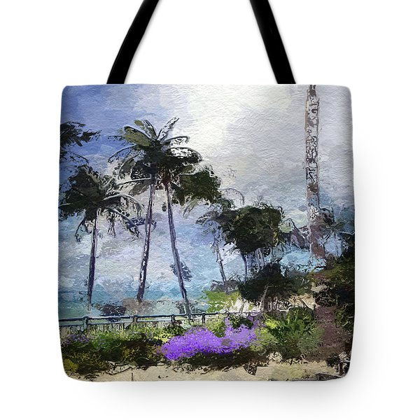 Seaview Terrace Tote Bag