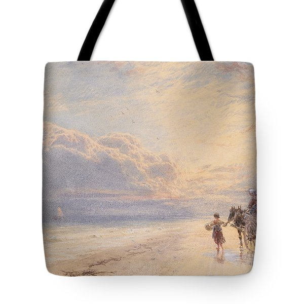 Seaweed Gatherers Tote Bag by Myles Birket Foster