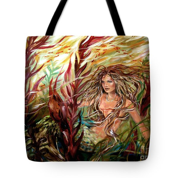 Seaweed Mermaid Tote Bag