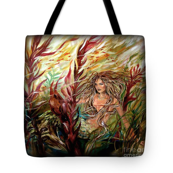 Seaweed Mermaid Pillow Tote Bag