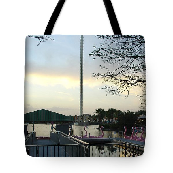 Tote Bag featuring the photograph Seaworld Skytower by David Nicholls