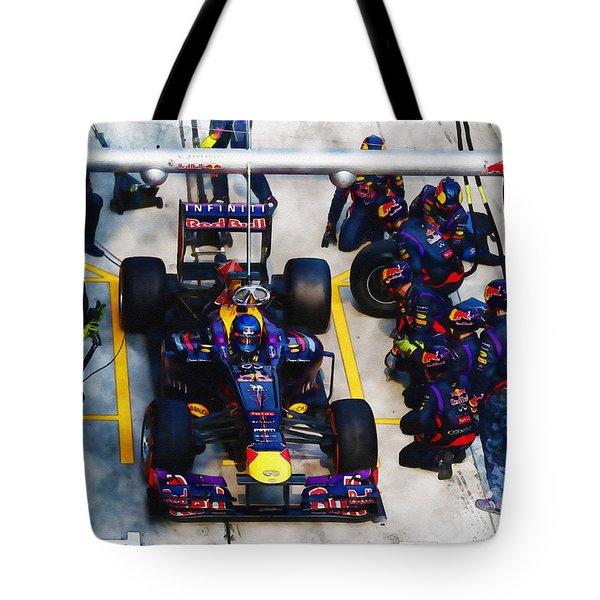 Sebastian Vettel Of Germany Tote Bag