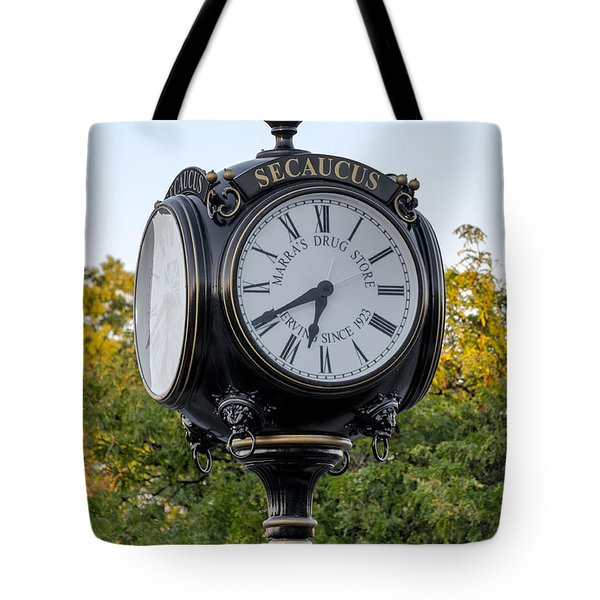 Secaucus Clock Marras Drugs Tote Bag