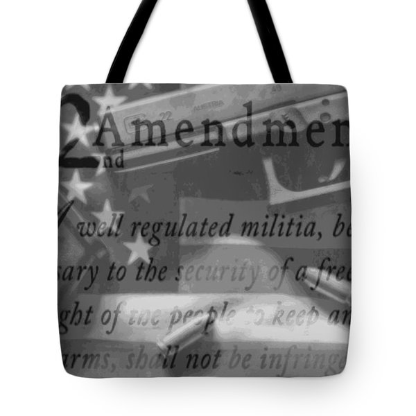 Second Amendment Black And White Tote Bag