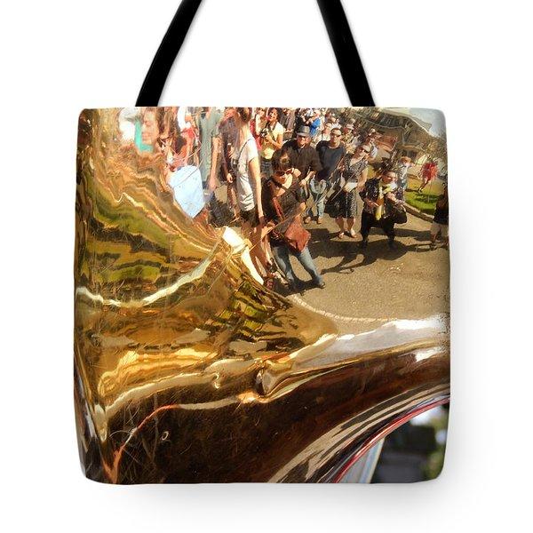 Second Line Tuba Tote Bag