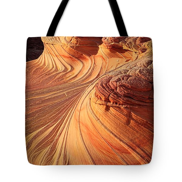 Second Wave Flow Tote Bag by Inge Johnsson