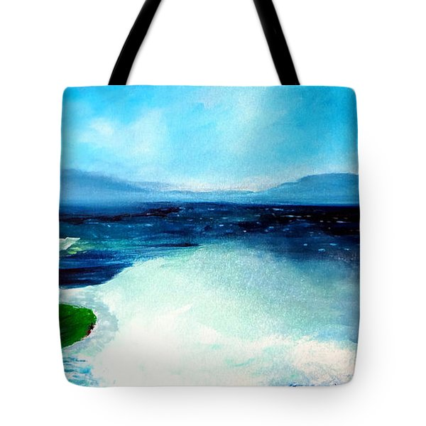 Secret Beach Surf Art Tote Bag