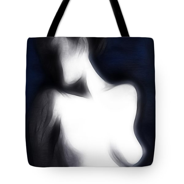 Secret Face Tote Bag by Michal Boubin