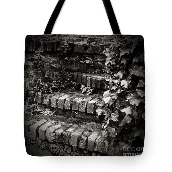 Secret Garden Stairs Tote Bag