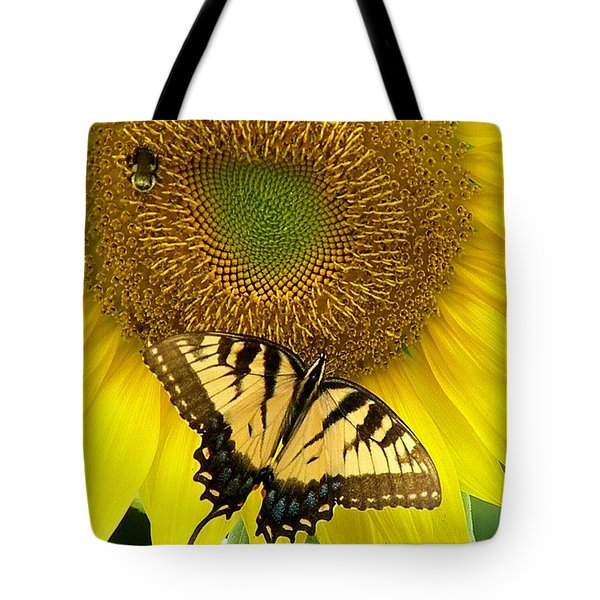 Secret Lives Of Sunflowers Tote Bag