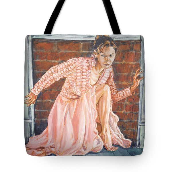 Tote Bag featuring the painting Secret Passage by Bryan Bustard