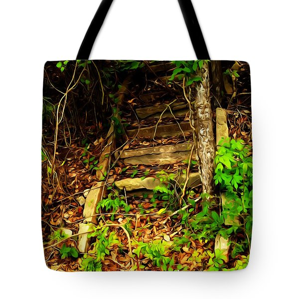 Secret Stairway Tote Bag