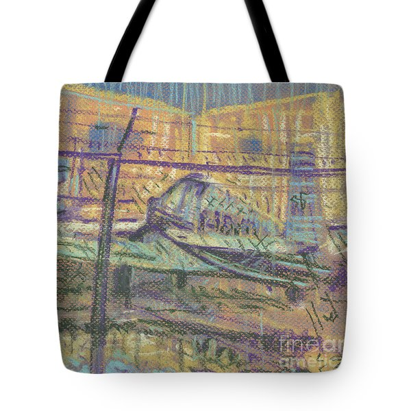 Tote Bag featuring the painting Secured Planes by Donald Maier