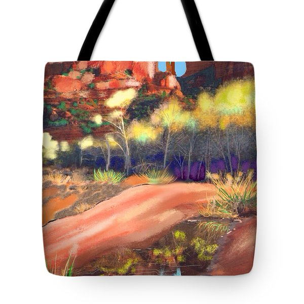 1f8d72cdf905 Tote Bag featuring the painting Sedona #4 by Craig Nelson