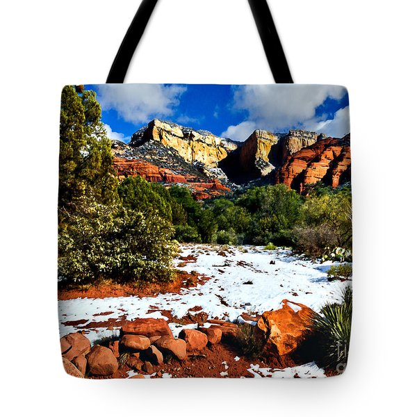 Tote Bag featuring the photograph Sedona Arizona - Wilderness by Bob and Nadine Johnston