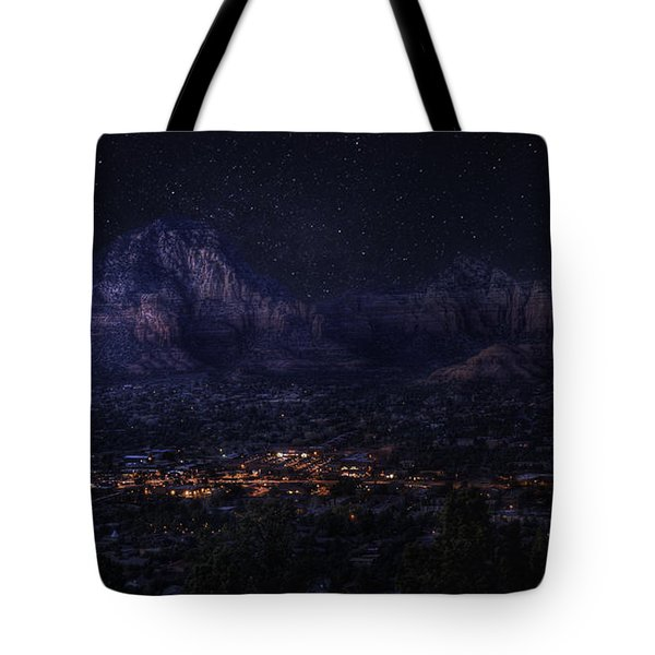 Tote Bag featuring the photograph Sedona By Night by Lynn Geoffroy