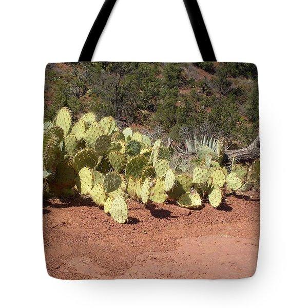 Tote Bag featuring the photograph Sedona Cacti by Philomena Zito
