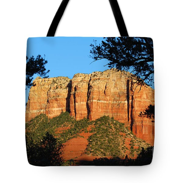 Sedona Courthouse Butte  Tote Bag by Eva Kaufman