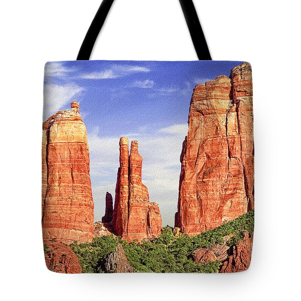 Sedona Red Rock Cathedral Rock State Park Tote Bag by Bob and Nadine Johnston