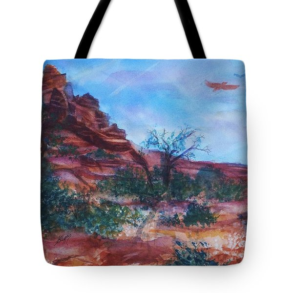Sedona Red Rocks - Impression Of Bell Rock Tote Bag