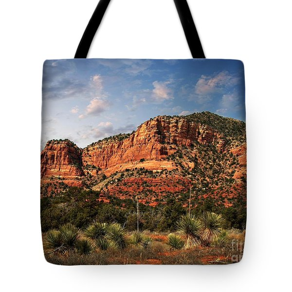Tote Bag featuring the photograph Sedona Vortex  And Yucca by Barbara Chichester