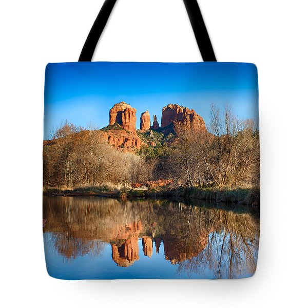 Sedona Winter Reflections Tote Bag