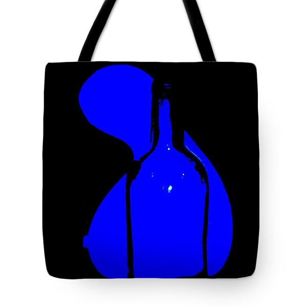 Tote Bag featuring the photograph Seduction In Blue by Newel Hunter