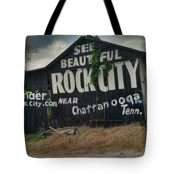See Rock City Barn Tote Bag by Janice Spivey
